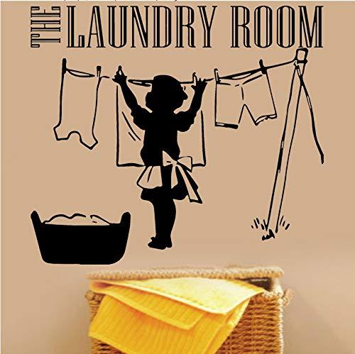 El lavadero de vinilo tatuajes de pared ropa madre lavandería signo símbolo...