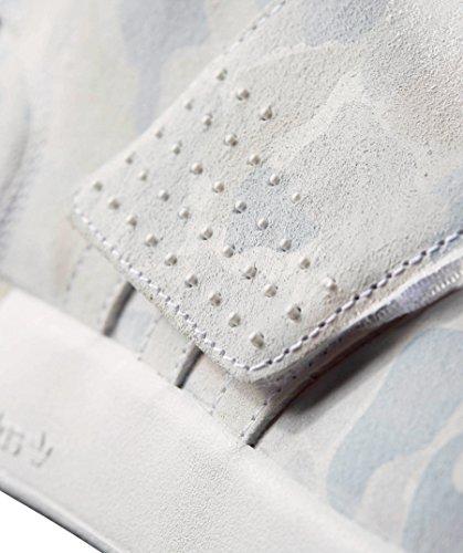 Adidas Bianco Grigio Tubular Strap Scarpa Invader