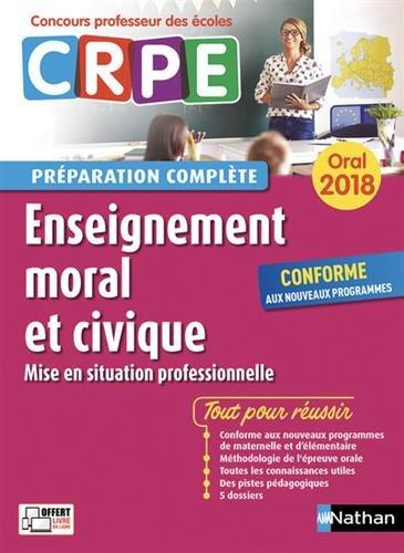 CRPE oral 2018. Enseignement moral et civique (mise en situation professionnelle) par Anne de Nadai