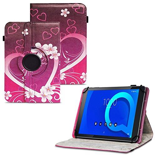 Tablet Hülle für Alcatel 1T 10 Tasche Schutzhülle Case Schutz Cover 360° Drehbar 10.1 Zoll Etui, Farbe:Motiv 2