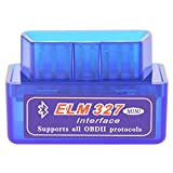OBD2 Codeleser ELM327 Bluetooth OBD II Diagnose scanner Super Mini ELM 327 Engine Scan Tool V1.5 blau