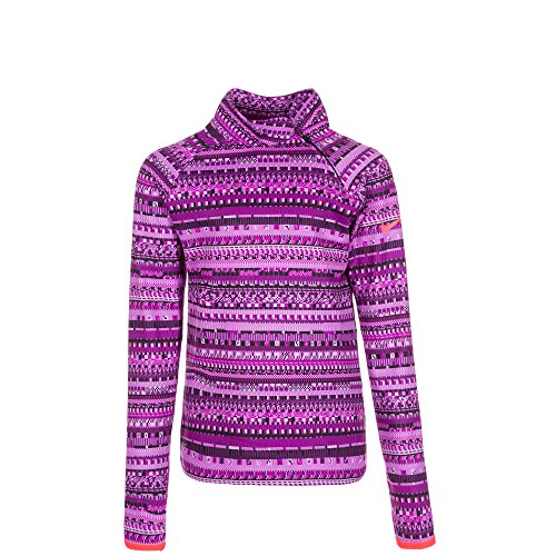 Nike girl 's Pro Hyper Warm Flash Mock Lange Ärmel T-Shirt Violett violett xl Mädchen Tennis Kleidung Nike
