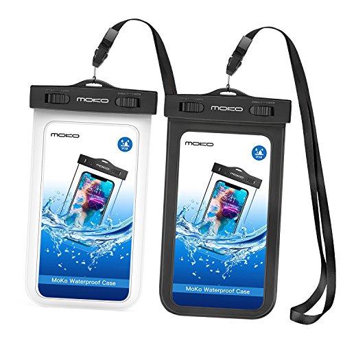 MoKo Wasserdichte Hülle für iPhone X iPhone XS iPhone Xr iPhone 8 iPhone 7 iPhone 6S Plus Samsung Galaxy S9 Samsung S8 Plus Samsung S7 Edge Samsung S6 Huawei, Schwarz/Weiß - Case Galaxy Armee-samsung S3