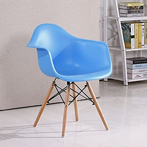 Sedia Eames sedie di plastica di stile moderno minimalista sgabello Poltrona scrivania Home Computer sedia sedia per il tempo libero blu cielo gli imballaggi