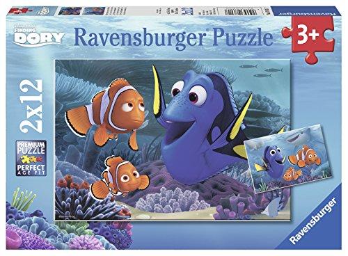 Ravensburger Puzzle 07601 - Dory unterwegs im Meer, 2X 12-teilig