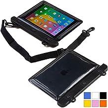 Funda resistente al agua tipo sobre Voda de Cooper Cases(TM) para tablet de Samsung Galaxy Tab 3 8.0 (T311/T315/T310) en Negro (diseño ligero, ventana táctil, hermética, asa para hombro ajustable)
