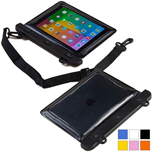 Huawei MediaPad/M1 8.0/M2/S7-301w/X1 7.0/X2/T1 7.0 Wasserdichte Hülle, COOPER VODA Wasserfeste tragbare Outdoor-Schutzhülle mit Kopfhörer & berührungsempfindlichem Bildschirm (Schwarz)
