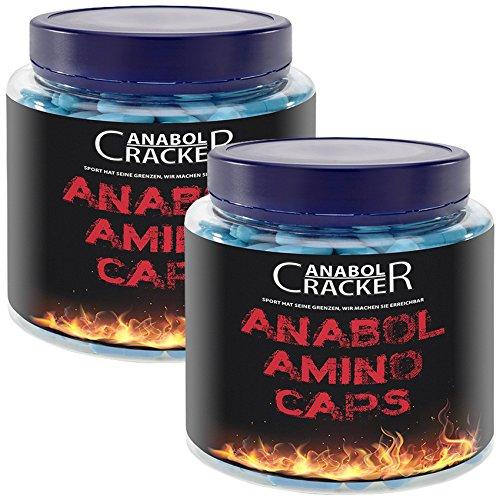 2X Anabol Amino Caps, 700 Kapseln Bcaa Aminosäuren, Arginin, Tyrosin uvm.