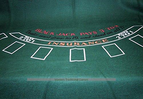 Masters Traditional Games Blackjack Cloth (Table Cloth Casino)
