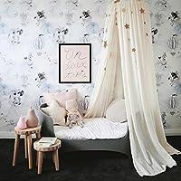 mosquitera de algod/ón para ni/ños oldo redondo para cama decoraci/ón de dormitorio tienda de campa/ña para ni/ños blanco Cotton sala de lectura