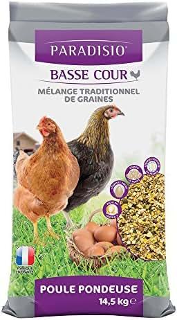 Paradisio : Alimentation Poules Mélange Graines : 14,5 Kg