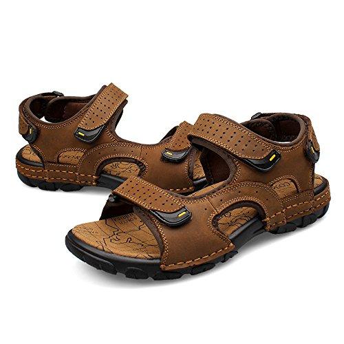 Pelle Sandali Nuova Piani Grandi Per Sandali Erano Dimensioni Xing Gli Uomini Casuali Di Mens Kaki Estivi Lin Fx8qOrwv80
