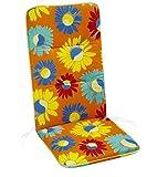 BEST Sesselauflage Monoblockissen hoch, bunt, 96 x 43 x 5 cm, 5091778