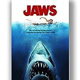 Jaws Film Film Poster Vintage Retro-Stil Leinwand Wand Kunstdruck Bild groß Klein
