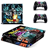 YISHO PS4 Sticker Classic Dragon Ball Skin Full Cover for Play Station 4 Console Skin and Controller Ps4 Accessory (Style07)