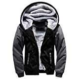 Luckycat Herren M-5XL Hoodie Winter warme Fleece Zipper Jacke Outwear Mantel Mode 2018