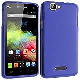 TBOC® Blau Gel TPU Hülle für Wiko Rainbow 4G Ultradünn