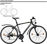 Kreidler Mustang 28 1.0 EQ 21-G Altus Cross Bike 2017 (Schwarz, 28