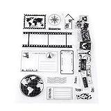 Chiaro Silicone Timbro Scrapbook Cartoline Fotografiche Cartoline 14x18cm Gomma Sigillo Timbri Silicone
