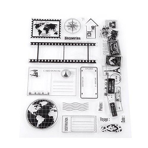 Klar Silikon Stempel Einklebebuch Fotokarten Postkarten 14x18 cm Gummidichtung Silikon Briefmarken -