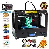 Abcs Printing 3D-Drucker mit Doppel-Extruder, Plug-and-Play-Desktop-3D-Drucker Montierter optimierter MK8-Doppelextruder - Hohe Präzision - ABS/PLA-Filament 3D printer … (3D Printer Doppelextruder)