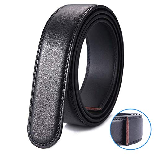 XiR Cinturón Cuero Hombre sin Hebilla Reemplazo de Cinturón de Trinquete 3.5cm 160cm