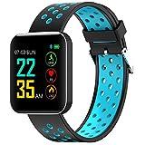 Bluetooth Smartwatch Fitness Uhr Intelligente Armbanduhr Sport Tracker Uhr S88 Multifunktions-Wasserdichtes Smart-Armband 1.54 Farbdisplay Sport Armband für Android und IOS Smartphones Damen Herren