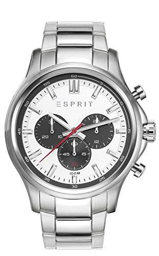 Esprit Mathias-Orologio da uomo con cronografo in argento e argento in...