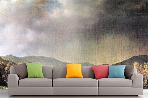 Roshni Arts® - kuratierte Art Wall Mural - Spring Rain, The Valley von Connecticut von Martin Johnson Heade | selbstklebend Vinyl Ausstattung Décor Art Wand - 243,8 x 182,9 cm
