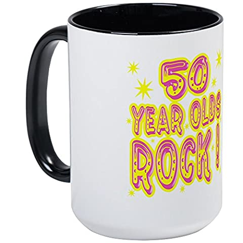 CafePress - 50 Year Olds Rock ! - Coffee Mug, Large 15 oz. White Coffee Cup