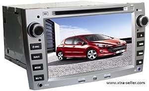 Station Multimédia Mobile Autoradio HD GPS DIVX DVD MP3 USB SD RDS Bluetooth IPOD PIP disque dur 2 Go avec CAN BUS pour Peugeot 308