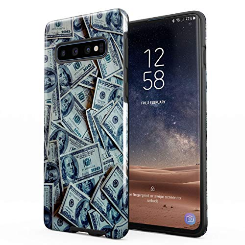 Cover Universe Hüllen für Samsung Galaxy S10 Hülle, Hundred Dollar Bills Grand Millionaire Thug High Life stoßfest, zweilagig mit Hardcase aus PC + Hülle aus TPU, hybride Case Handyhülle