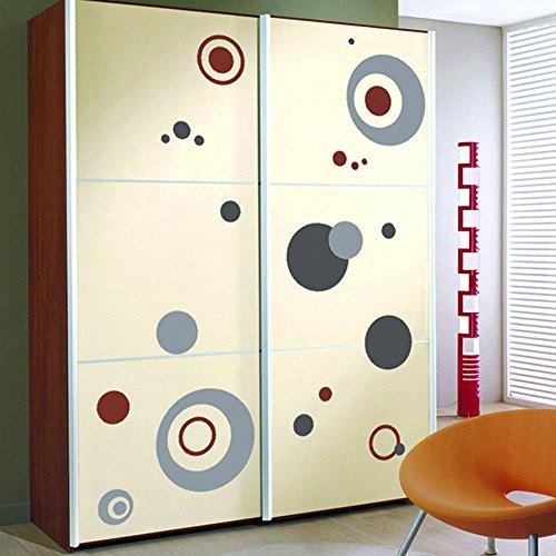 Winhappyhome Colore astratto cerchio Adesivi per Camera da letto Soggiorno Divano TV Armadio Sfondo murali Disegni rimovibili Home Decor parete decalcomanie