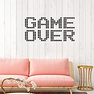 SMILEQ GAME OUER Removable Art Vinyl Mural Home Room Decor Wall Stickers (A)