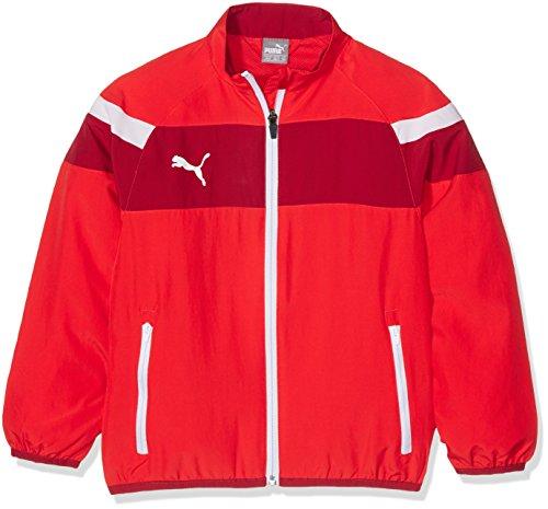 Cat Woven Jacket (Puma Kinder Spirit II Woven Jacket Trainingsjacke, Red-White, 152)