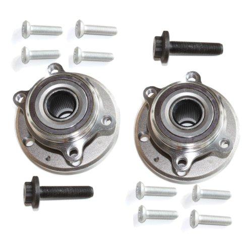 2 x Radnabe mit Radlager/Radlagersatz für vorne/für die Vorderachse