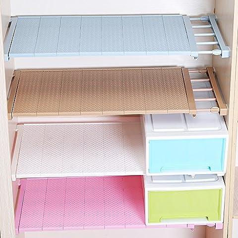 hyfanstr verstellbar Schrank Regal Organizer Kleiderschrank Aufbewahrung Rack Fach sammeln, plastik, braun, 24CM (24 Wire Shelf)