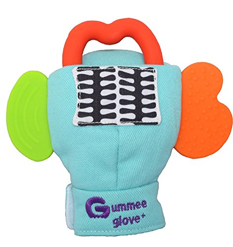 Gummee Glove Plus Baby Teething Mitten Age 6-12 Months Bonus Travel Pouch and Teething Ring 51fG2mDNJeL