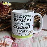 Kaffeebecher ~ Tasse - Nur die besten Brüder werden zum Onkel befördert ~ Weihnachten Geschenk
