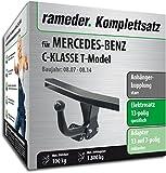 Rameder Komplettsatz, Anhängerkupplung Starr + 13pol Elektrik für Mercedes-Benz C-Klasse T-Model (142972-06437-1)