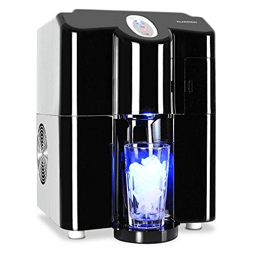 Klarstein Ice Volcano 2GB Eismaschine Eiswürfelzubereiter Eiswürfelmaschine (3 Liter Wassertank, LED-Beleuchtung, bis 13kg Eiswürfel, laufruhiger Hochleistungskompressor) schwarz