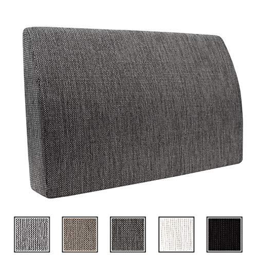 Formalind Die Fantastische Rückenlehne für Bett und Sofa 70 X 45 X 15 cm // Rückenkissen zum Fernsehen und Lesen in edlem Design aus feinem Polsterstoff (grau meliert) -