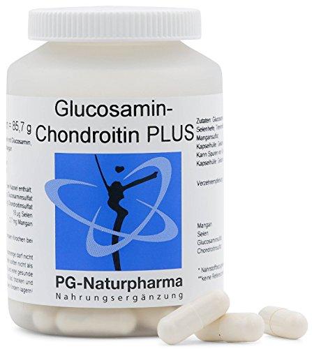 Glucosamin Chondroitin - 100 Glucosamin Kapseln - hochdosiert - mit 1.500mg Glucosaminsulfat - Gelenkkapseln mit Selen & Mangan - hergestellt in Deutschland