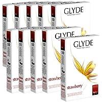 Glyde Ultra Strawberry Vorteilspackung: 10 x 10 vegane Kondome preisvergleich bei billige-tabletten.eu