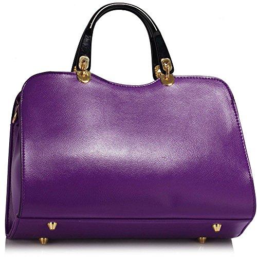 Trendstar Damen Schulter Handtaschen Damen imitat Leder Neu Fashioned Schnalle Für Leinentrage Taschen A - Lila