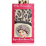 """Betty Dain Stylish Design Terry Lined Shower Cap, The Socialite Collection, """"safari Spots"""""""