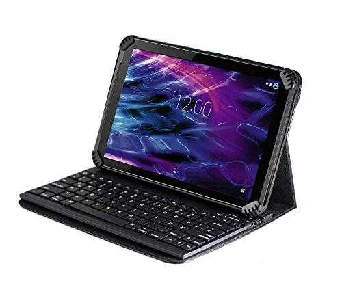 """Navitech Fall / Abdeckung / Tasche / Hülle mit Standfunktion und QWERTZ Bluetooth Keyboard für das 10.6\"""" Fusion5 108 Octa Core Android Tablet PC"""