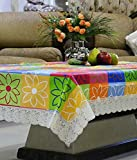 #7: Kuber Industries Multi Checkered Waterproof Center Table Cover 4 Seater (40*60 inches)