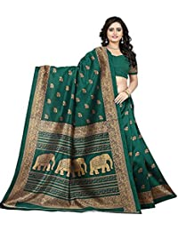 Saree Mall Saree For Women Saree With Blouse Piece Elephant Print