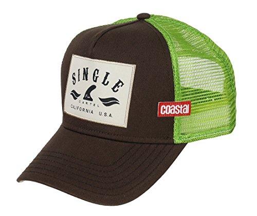 COASTAL - Single Fin (brown) - High Fitted Trucker Cap